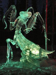 Ice Art Alaska - one of the many spectacular ice art sculptures- seen in March