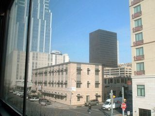 View from chair while sitting in loft. Unit is in heart of downtown!