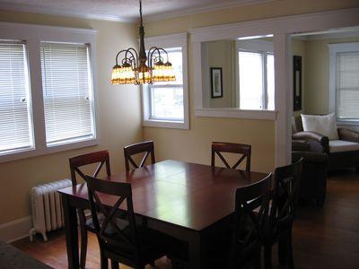 Dining Room with Pub Height Table