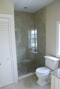 Master Bath Shower, pebble floor