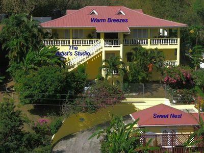"""Hibiscus Heights"" can be rented as a whole unit (villa & cottage) or separately"