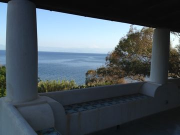 Aeolian Islands house rental - View from your dream location in Gelso beach, Vulcano island.