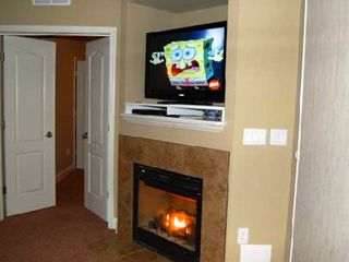 Osage Beach condo photo - Don't worry like Spongebob... a warm gas fire turns on/off with just a switch.