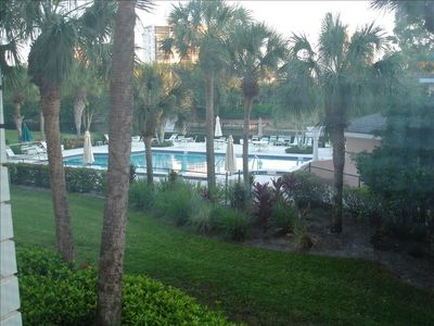 View of pool from the lanai