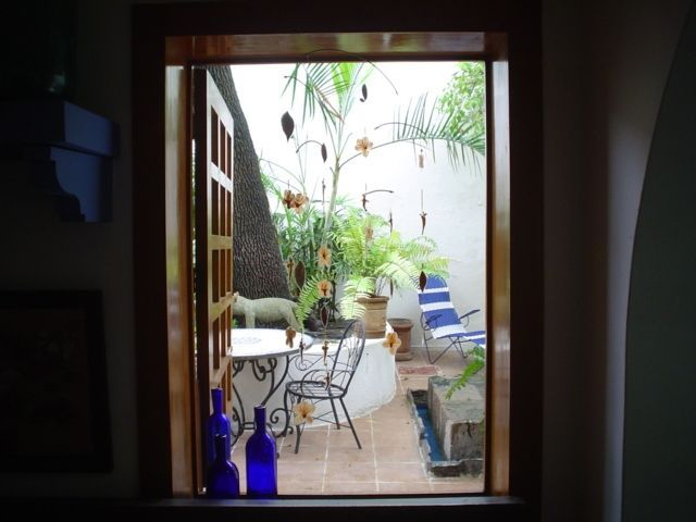 location,location, location. Apartment studio , large kitchen with private patio