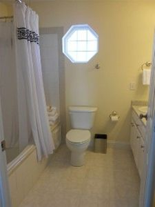 3rd floor master bath with double sinks and jetted tub