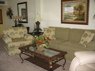 Fort Myers Beach condo photo - Relax in this gorgeous living room after a day of enjoying the beach!