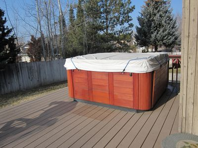 Hot tub with cover.