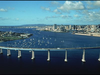 Coronado Bridge Across the San Diego Bay