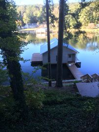 Guntersville Lake cabin rental - Another view of Boathouse