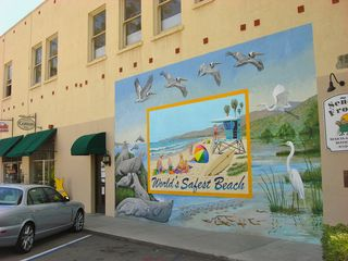 Carpinteria condo photo - Mural by local artist in town