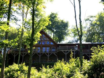 Wolf Laurel cabin rental - Beautiful Log Cabin nestled in the Mountains.
