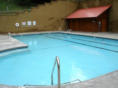 Alpine Mountain Village Resort's second pool located near 'Mooseberry'