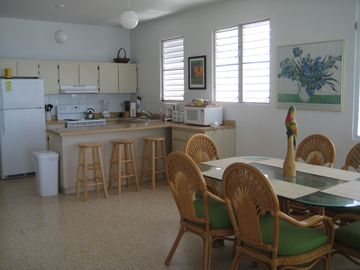 The Dining Area and Kitchen Upstairs