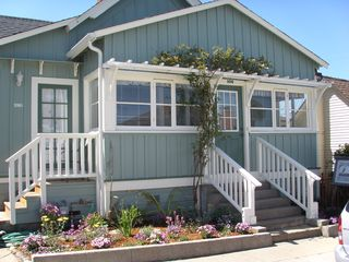 Pacific Grove cottage photo - Welcome to Sea Foam Cottage with a peek of the ocean from the sun room.