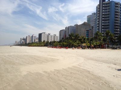 Beach in front of apartment