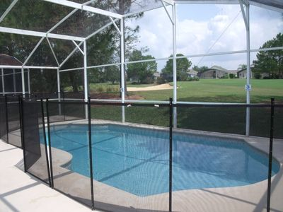 Removable Safety Fence around the Pool