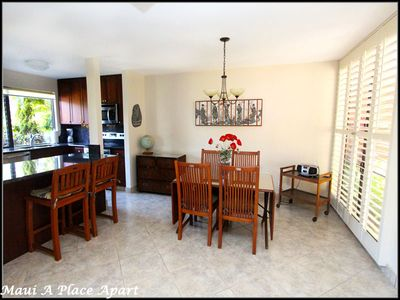 Dining from unit 8A Ekahi Village, One Bed- 2 Bath, Garden View