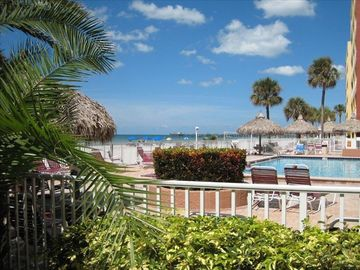 Redington Shores condo rental - Nice big pool heated and Gulf front!
