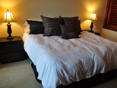 The Master Suite includes a luxurious King sized bed, private bath and your own