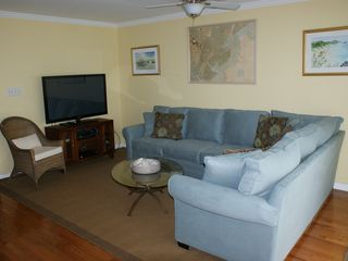 Tybee Island condo photo - Welcome to our condo. Soft, relaxing colors are based on the nautical chart.