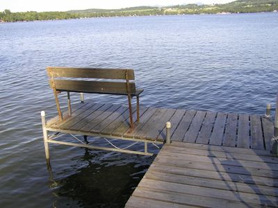 seat at the end of the dock