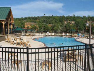 Branson cabin photo - The pool and playground is only 200 steps from the cabin.