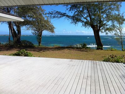 Laie cottage rental - View from deck