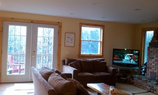 Mount Snow house photo - Living room looking out front of house