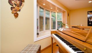 San Jose house photo - Piano in the living room next to bay window
