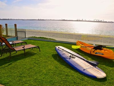 Kayaks and paddleboards included!