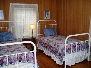 Seal Cove cottage photo - Twin bedroom with new mattresses