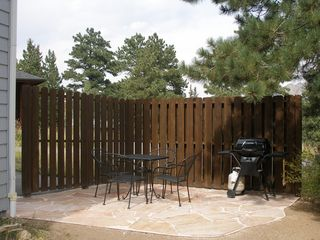 Estes Park condo photo - Wild Flower private patio - has great view of mountains