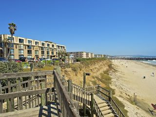 Pacific Beach condo photo - Shows how close the building is to the beach (only a couple of steps)