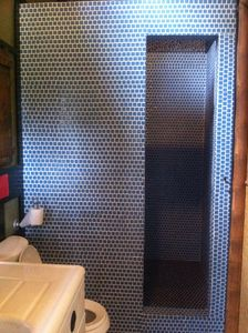 Pupukea studio rental - Gorgeous walk-in tiled shower.