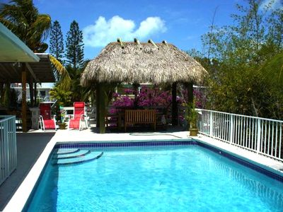 tiki hut/ pool