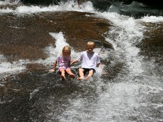 Bryson City chalet photo - You might try sliding down a rock!