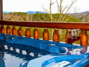Pigeon Forge cabin rental - HOT TUB WITH BEAUTIFUL MOUNTAIN VIEWS!