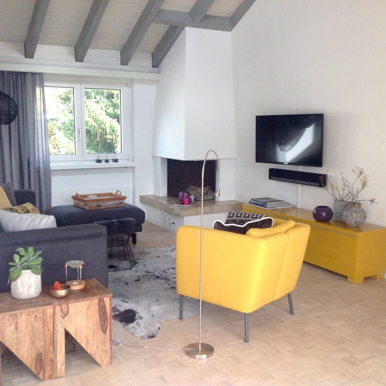Near Zurich, conveniently, apartment 140sqm for Business and Family