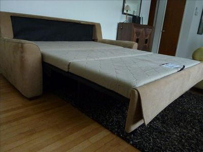 Deluxe Queen Size Sofa Bed with Comfortable flat sleeping surface