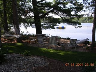 Longville cabin photo - Large Cabin-Lakeside campfire area
