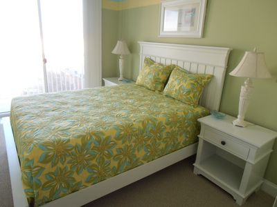 Belmont Towers Ocean City condo rental - Second bedroom and queen bed
