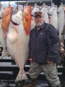 Halibut, salmon and Rockfish saltwater guided fishing 30 minutes away in Seward.