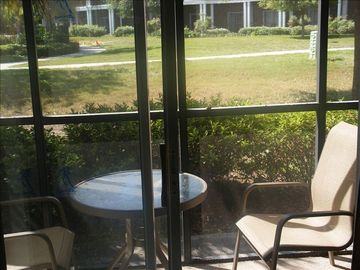 Screened-in patio - a great spot for enjoying a morning cup of coffee.