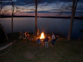 Allegan house photo - Enjoying a Nighttime Bon Fire at the top of the Bluff