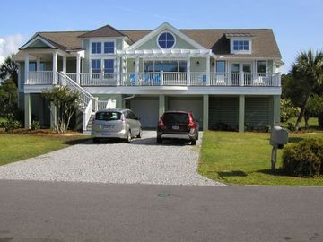 Fripp Island house rental - SEA SOUNDS ...Location, Location..2nd row oceanfront, back deck golf course view