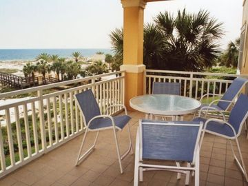 Fort Morgan condo rental - The ideal beach view from your spacious and livable balcony.