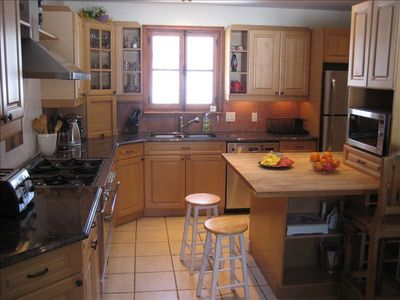 Fully equipped and open kitchen