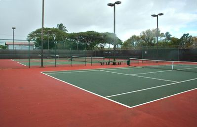 Tennis Courts at the Papakea - lit for evening enjoyment