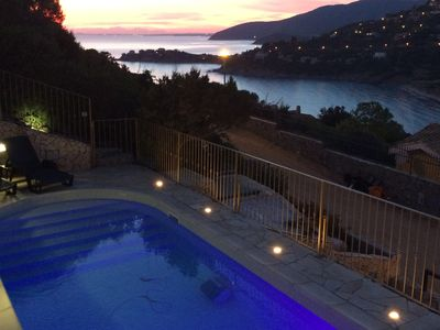 lovely sea view and private pool 100 meters from spiggia free wifi